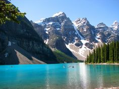 Moraine Lake, in the valley of Twin Peaks, Lake Louise, Alberta