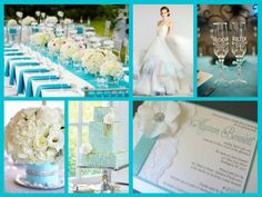 Tiffany theme wedding Tiffany Blue Party, Tiffany Theme, Breakfast At Tiffanys, Favorite Color, Table Decorations, Wedding, Inspiration, Valentines Day Weddings, Biblical Inspiration