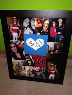 Diy Baseball Cross Shadow Box For Boyfriend Valentines