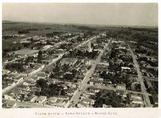 Vista aérea de Monte Alto / SP. Anos 50.
