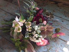 Bridesmaids bouquet by The Garden Gate Flower Company