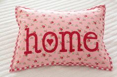 Home pillow by PamKittyMorning, via Flickr