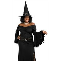 Sexy Wicked Witch Adult Plus Size Halloween Costume