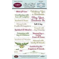 Set of 19 Clear Stamps Amazing Paper Grace Stamps Designed by Becca Feeken Designed to coordinate with JustRite Dies JB-04895 Vintage Labels Seven