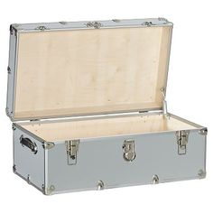 Dorm Trunks with Silver Trim #pbteen