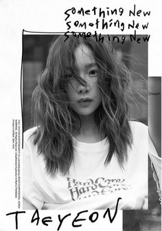 Taeyeon - Something New Mini Album) CD+Booklet+Folded Poster+Free Gift Album Design, Kpop Posters, Poster Layout, Foto Pose, Something New, Graphic Design Posters, Image Editing, Photography Portfolio, Magazine Design