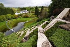 Garden of Cosmic Speculation in Scotland, only open to the public one day a year
