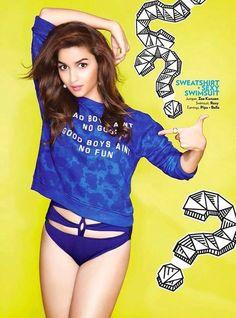Alia Bhatt Bikini Photoshoot for Miss Vogue Magazine 2015
