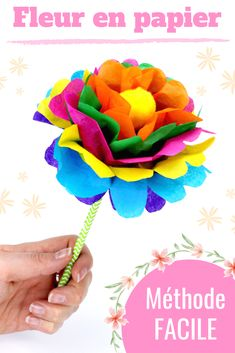 Flower Tissue Paper Crepe Paper Mom s Day Present Crepe Paper, Tissue Paper, Easy Crafts For Kids, Diy And Crafts, Diy Papier, Paper Toys, Paper Flowers, Origami Flowers, Mother Day Gifts