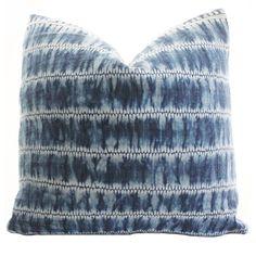 Indigo Batik Pillow, Found on Savvyhomeblog.com