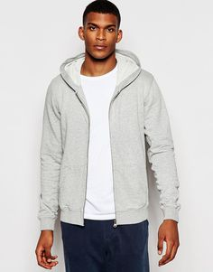 """Hoodie by Scotch & Soda Lightweight jersey Hooded neck Zip front Ribbed cuffs and hem Split pouch pocket Regular fit - true to size Machine wash 100% Cotton Our model wears a size Medium and is 6'2""""/188cm tall"""