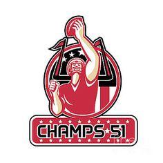 Football Champs 51 Atlanta Retro by Aloysius Patrimonio