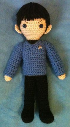 Spock - amigurumi If only Sheldon Cooper were a real person, I could make this for him LOL