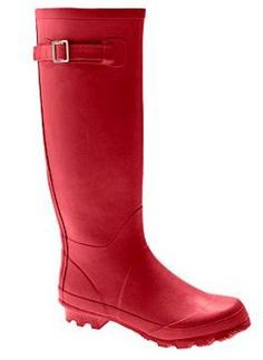 Want some good ol' red rain boots.
