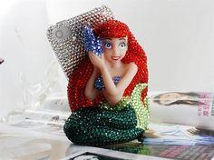 Bling rhinestone 3D mermaid iphone 4 case