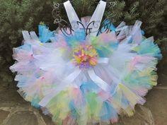 PASTEL COLORS PETTI Tutu Dress. Birthday Tutu Dress. Flower Girl Dress. Photo Shoot Tutu Dress