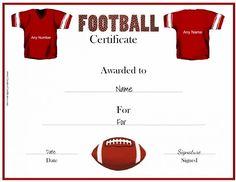 FreePrintableFootballAwardCertificateTemplate  Football