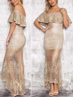 Vestido de Renda Ombro a Ombro - Compre Online