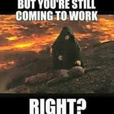 Vader are you still going back to work? edit by @lightsaber_daily #revengeofthesith #joke #comedy #lol #funny #Hilarious #true #funniest #darthvader #vader #work #starwars #StarWarsMovies #universe by starwarsrepublics