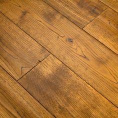 125mm Golden Hand Scraped and Brushed Engineered European Oak Wood Flooring 14/3mm