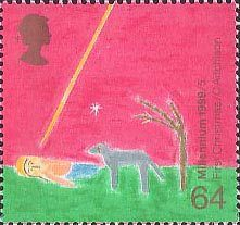 British Stamp 1999 - 64p, Nativity ('First Christmas') from Millennium Series. The Christians' Tale (1999)