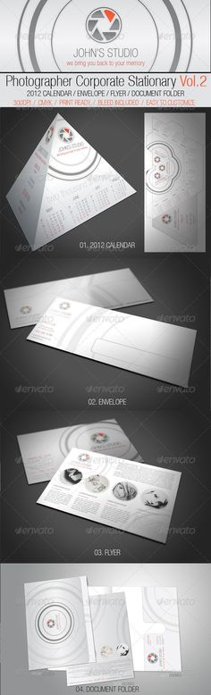Photographer Corporate Stationery Calendar Template Vector AI. Download here: http://graphicriver.net/item/photographer-corporate-stationery-vol2/851575?s_rank=641&ref=yinkira