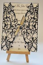 Wedding Laser Cut Invitation Duchesse Lace (INV052), insert & envelope