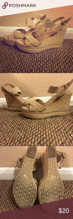 Charles by Charles David Nude/Tan Wedges Nude/Tan wedges from Charles by Charles David. 8 1/2 size women's. Bought for my Mom and only worn a couple of times because wrong size. Charles David Shoes Wedges