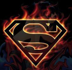 Flaming Superman symbol. Think I found my tattoo