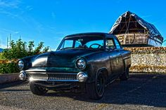 53 ford  mainline rat rod and  old boat