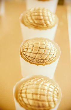 Disco ball cupcake toppers