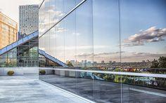 Photo of Edmonton Cityscape in Window Reflection  by CarlaDyck