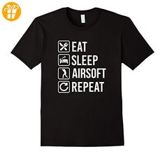 Eat Sleep Airsoft Repeat Funny T-Shirt - Herren, Größe S - Schwarz (*Partner-Link)
