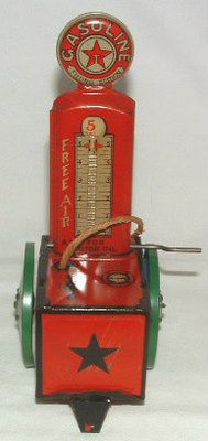 1920's 30's Chein Tin Toy Texaco Gas Filling Gasoline Service Station Gas Pump