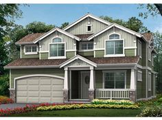 Craftsman House Plan with 2441 Square Feet and 4 Bedrooms from Dream Home Source   House Plan Code DHSW58345