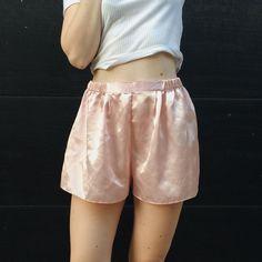 857d4af7846 Pale pink satin high-waisted shorts Pink Satin, Pale Pink, Short Waist,.  Depop