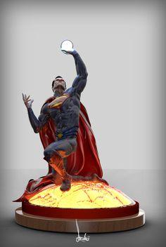 Superman Collectable Concept, Gareth Beedie on ArtStation at https://www.artstation.com/artwork/Nr5Xb