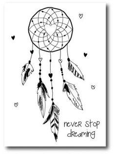"""Kaart """"Never stop dreaming"""""""