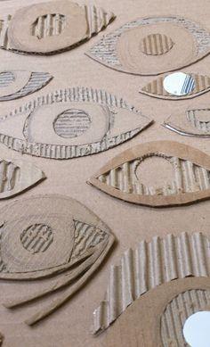 the art room plant: Cardboard Drawing, Cardboard Printing.