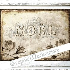 Noel French Christmas Large Image Instant by GraphicMarketplace