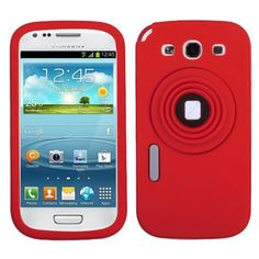 Get High Quality #Samsung #Galaxy #S #3 #i535 #i747 #L710 #T999 #I9300 #Silicone #Cover #Case - Red/ White Camera Style Stand Pastel With Lanyard at a huge discount price! With the magenta, this case will make your phone more attractive and protect it against other damages! Get it right now, only $11.99.