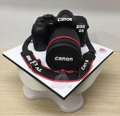 Torta camara fotografica canon