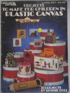 Plastic+Canvas+Patterns+Projects+to+Make+for+Children+Vintage+Leisure+Arts+Booklet