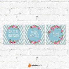 """Placas Decorativas """"Que Seja Infinito"""" - Papel de Parede e Adesivos Decorativos - AdsiveShop"""