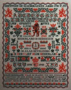 Cross Stitch Alphabet, Cross Stitch Samplers, Cross Stitch Charts, Cross Stitching, Embroidery Sampler, Cross Stitch Embroidery, Border Pattern, Yesterday And Today, Needle And Thread