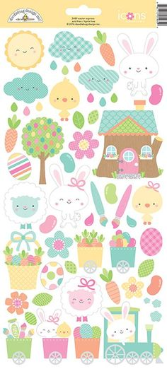 Doodlebug+Design+-+Easter+Express+Collection+-+Cardstock+Stickers+-+Icons+at+Scrapbook.com