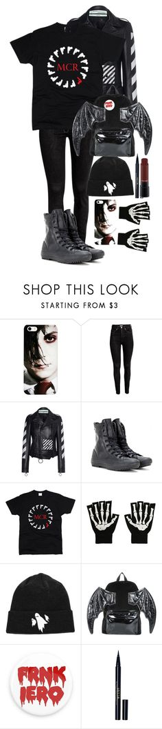 """Happy Birthday Frank Iero!"" by eveningouttoyourgrave ❤ liked on Polyvore featuring H&M, Off-White, Converse, Hot Topic, Iron Fist, Stila and MAC Cosmetics"