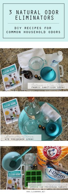 Say goodbye to common odor issues with these DIY cleaners made with safe, natural ingredients.