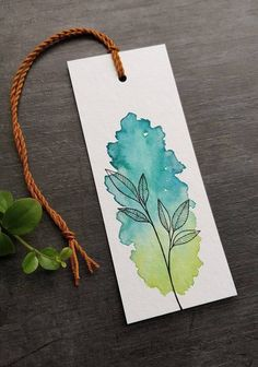 Creative Bookmarks, Paper Bookmarks, Watercolor Bookmarks, Watercolor Cards, Watercolor Flowers, Simple Watercolor, Tattoo Watercolor, Watercolor Animals, Watercolor Background