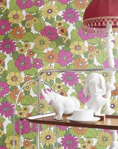 $44.58 Price per roll (per m2 $8.36), Wallpaper patterns, Carrier material: Non-woven wallpaper, Surface: Smooth, Look: Matt, Design: Flowers, Basic colour: White, Pattern colour: Heather violet, Yellow, Yellow green, Orange, Characteristics: Good lightfastness, Low flammability, Strippable, Paste the wall, Wash-resistant
